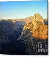 Sunset On Half Dome In Yosemite Canvas Print