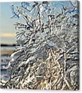 Sunset On Ice Canvas Print