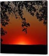 Sunset On Jekyll Island Canvas Print