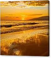 Sunset On Lahaina Canvas Print