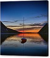 Sunset On Lake Willoughby Canvas Print
