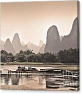Sunset On Li River Canvas Print