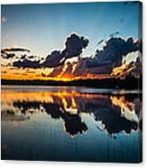 Sunset On Little Pine Lake Canvas Print