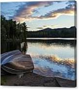 Sunset On Long Pond Canvas Print