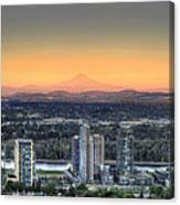 Sunset On Mount Hood Canvas Print