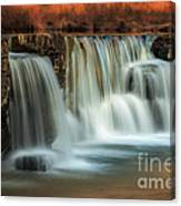 Sunset On Natural Dam Canvas Print