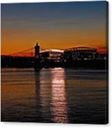 Sunset On Paul Brown Stadium Canvas Print