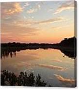 Sunset On Sandpiper Pond Canvas Print