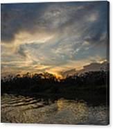 Sunset On The Amazon 1 Canvas Print