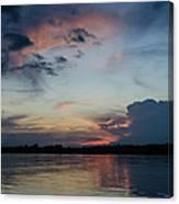 Sunset On The Amazon 3 Canvas Print