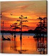 Sunset On The Bayou Canvas Print
