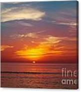 Sunset On The Beach. Canvas Print