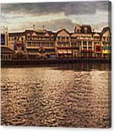 Sunset On The Boardwalk Walt Disney World Canvas Print