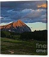 Sunset On The Butte Canvas Print