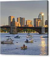 Sunset On The Charles Canvas Print