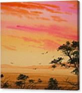Sunset On The Coast Canvas Print