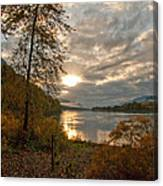 Sunset On The Columbia Canvas Print