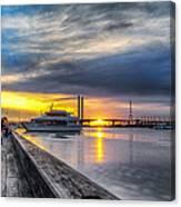 Sunset On The Docks Canvas Print