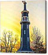 Sunset On The Dwight Windmill Canvas Print