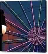 sunset on the Ferris wheel Canvas Print