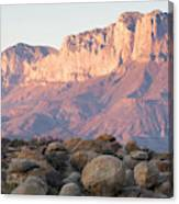 Sunset On The Guadalupe Mountains Canvas Print
