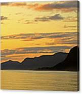 Sunset On The Gulf Of Alaska Canvas Print