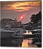 Sunset On The Island Canvas Print