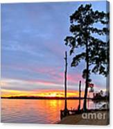 Sunset On The James River Canvas Print