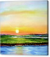 Sunset On The Marsh Canvas Print