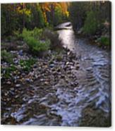 Sunset On The Merced Canvas Print