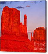 Sunset On The Mittens Canvas Print