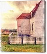 Sunset On The Old Farm House Canvas Print