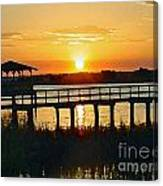 Sunset On The Palm Canvas Print