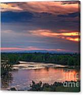 Sunset On The Payette  River Canvas Print
