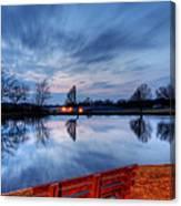 Sunset On The Pond Canvas Print