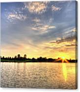 Sunset On The Pond Canvas Print