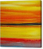 Sunset On The Puget Sound Canvas Print
