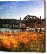 Sunset On The Siuslaw River Canvas Print