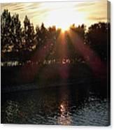 Sunset On The Volga River Canvas Print
