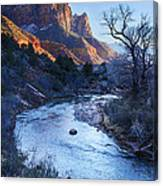 Sunset On The Watchman Canvas Print