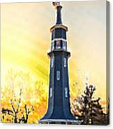 Sunset On The Windmill Canvas Print