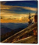 Sunset On Top Of Mount Mitchell Canvas Print