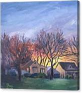 Sunset On Travis Ave. Canvas Print