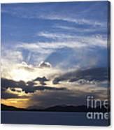 Sunset On Uyuni Salt Flats Canvas Print