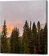 Sunset On West Beckwith Peak Canvas Print