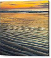 Sunset On Wet Sandy Beach Seascape Fine Art Photography Print  Canvas Print