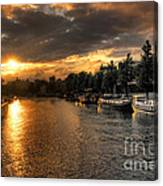 Sunset Over Amsterdam  Canvas Print