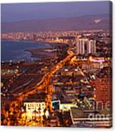 Sunset Over Arica Chile Canvas Print