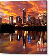 Sunset Over Austin Canvas Print