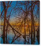 Sunset Over Barr Lake_2 Canvas Print